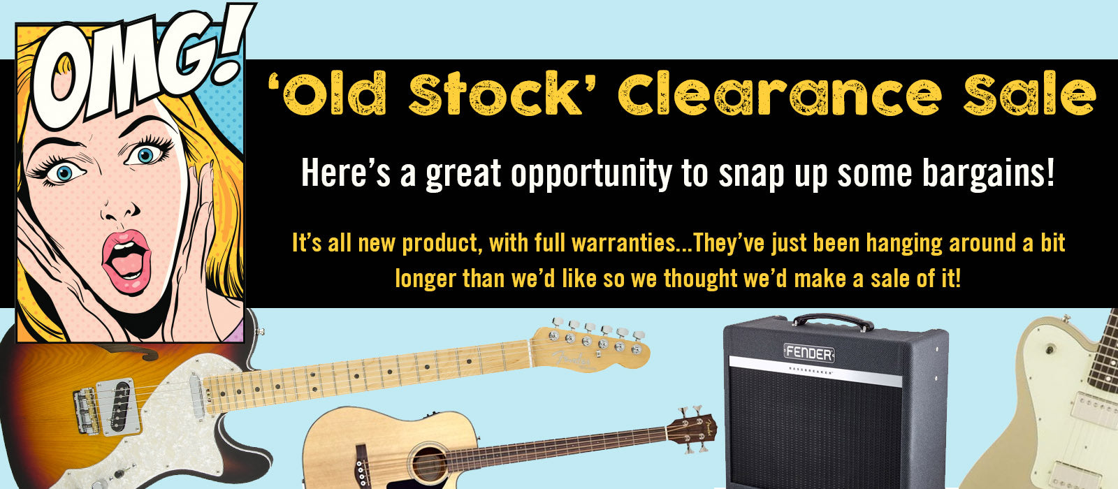 'Old Stock' Clearance Sale