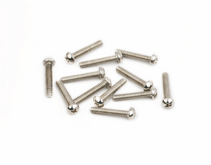 "Fender American Vintage Stratocaster Saddle Intonation Screws, 4-40 X 5/8"", Nickel (12)"