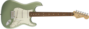 Front of Fender Player Stratocaster - Sage Green Metallic PF