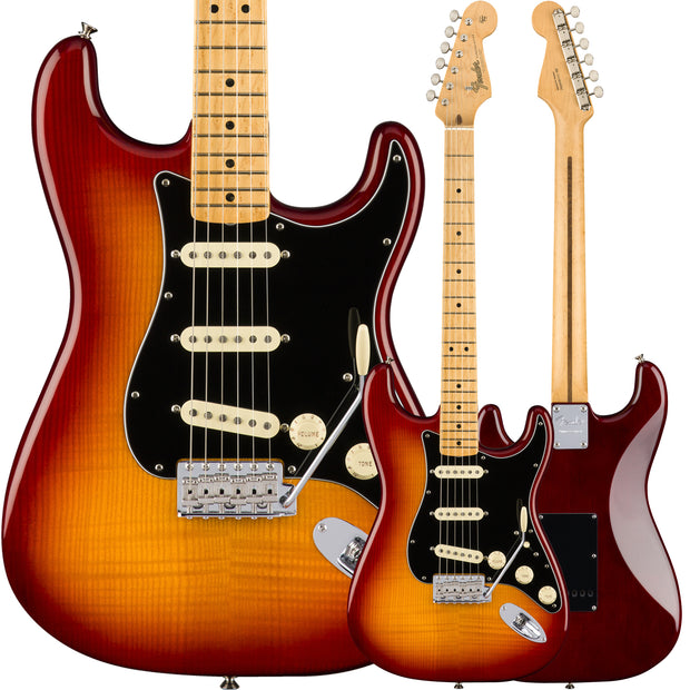 Fender Rarities Flame Ash Top Stratocaster - Plasma Red Burst