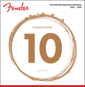 Fender 60XL Phosphor Bronze, Acoustic Guitar Strings, Extra Light, 10-48