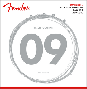Fender 250L Nickel Plated Steel, Electric Guitar Strings, Light, 9-42