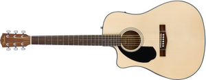 Fender CD-60SCE Acoustic/Electric - Natural, WN (Left Handed)