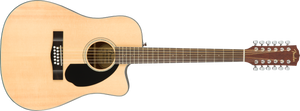 Fender CD-60SCE 12-string Acoustic/Electric - Natural, WN