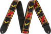 "Fender 2"" Monogrammed Strap - Black/Yellow/Red"