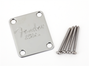 Fender 4-Bolt American Series Bass Neck Plate - Chrome