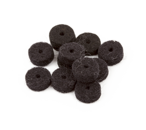Fender Black Strap Button Felt Washers (12)