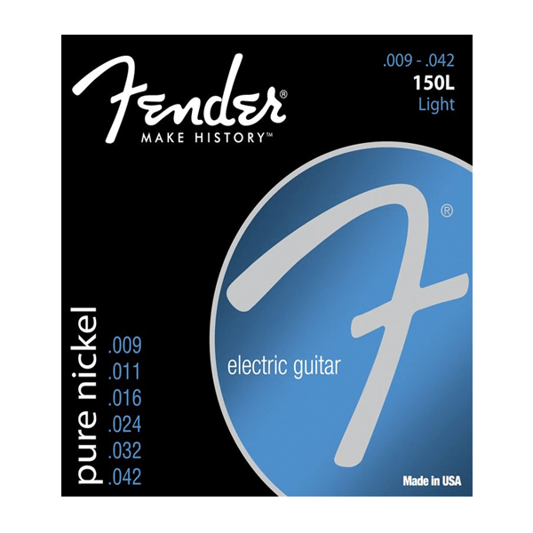 Fender 150L Pure Nickel, Electric Guitar Strings, Light, 9-42