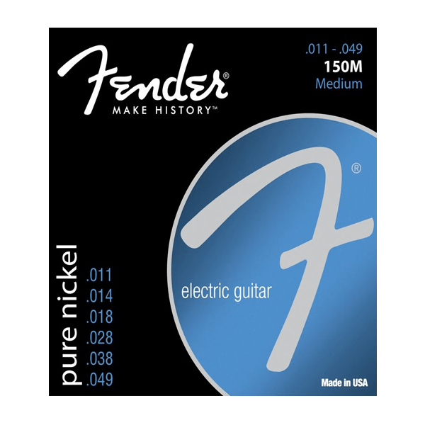 Fender 150M Pure Nickel, Electric Guitar Strings, Medium, 11-49