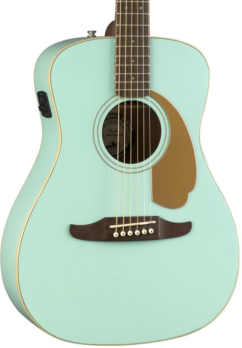 Fender Malibu Player Acoustic/Electric - Aqua Splash, body photo
