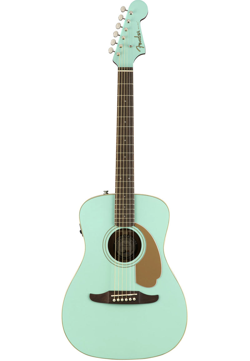 Fender Malibu Player Acoustic/Electric - Aqua Splash, front photo