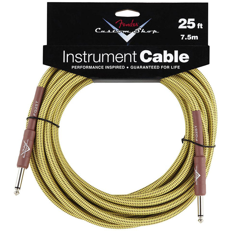Fender Custom Shop Cable - 25ft Tweed