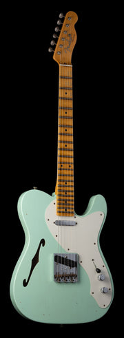 Fender Custom Shop Limited Edition '50s Thinline Telecaster - Super Faded Surf Green, Journeyman Relic
