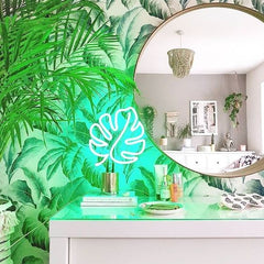 Neon Light Large EU | Monstera Leaf