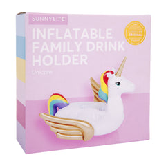 Inflatable Family Drink Holder | Unicorn