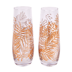 Sunnylife | Stemless Champagne Glasses | Electric Bloom