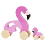 Push n Pull Toy Flamingo