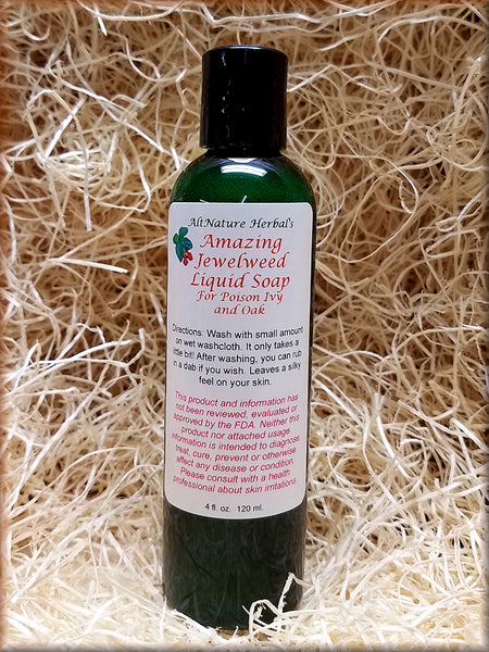 Amazing Jewelweed Liquid Soap for Poison Ivy, Oak and Itchy Skin