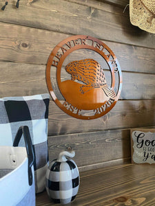 Personalized Beaver Sign | Woodland Creature Sign