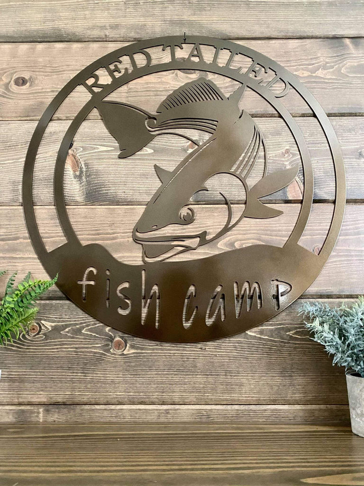 Red Spotted Tail/Red Drum Fishing Sign