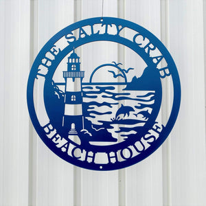 Lighthouse Personalized Metal Sign