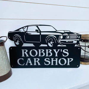 1969 Ford Mustang Name Plaque