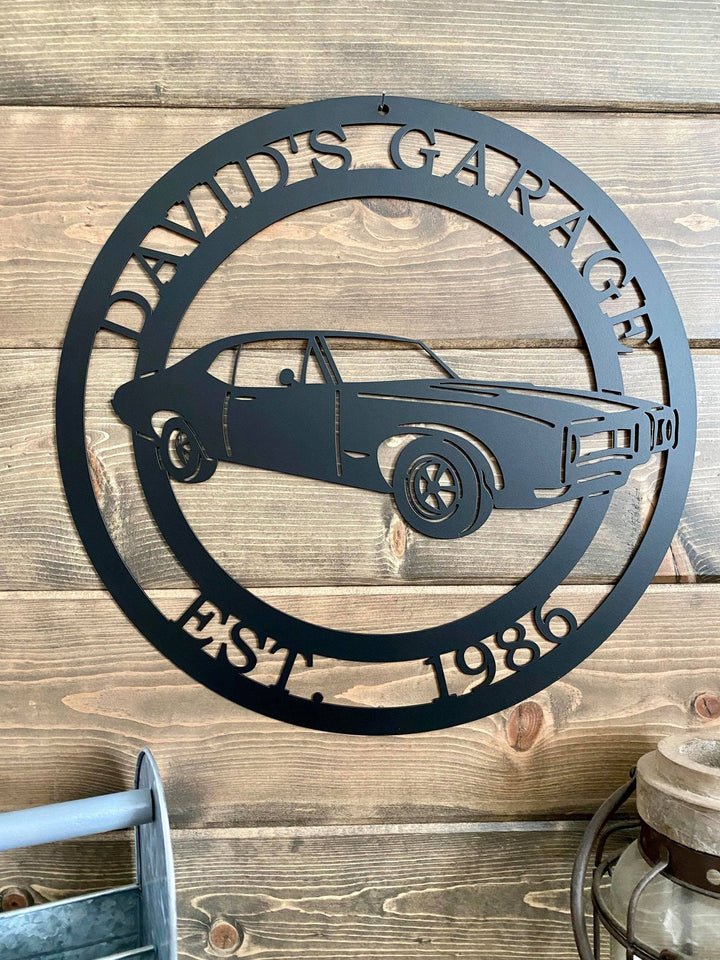 Personalized 1968 Pontiac GTO Sign
