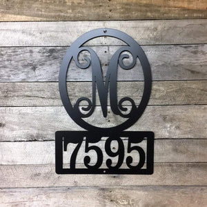 Monogram Address Sign