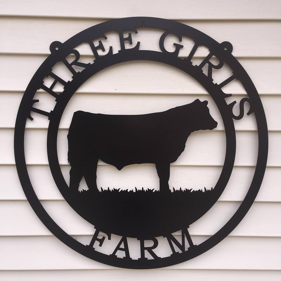 Cattle Brand Metal Farm Sign