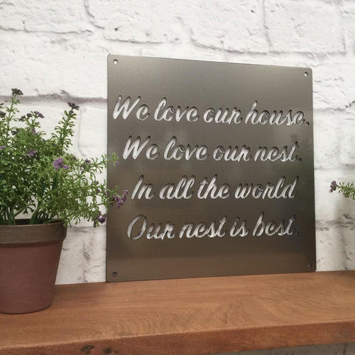 Custom Metal Quote Sign and Sayings