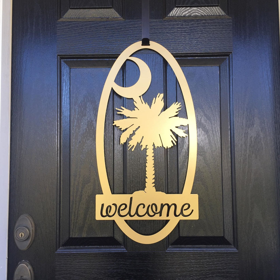 Welcome Palmetto Sign - South Carolina State Sign