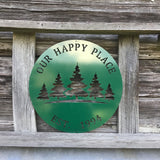 Personalized Pine Tree Family Name Sign
