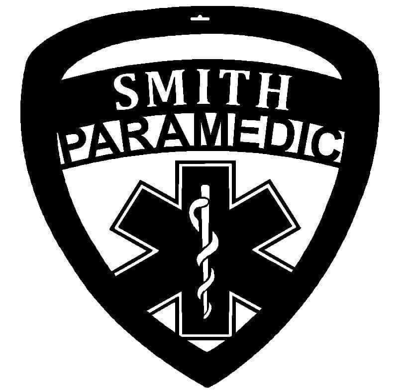 EMS # 2 - Personalized EMS Badge with the Star of Life