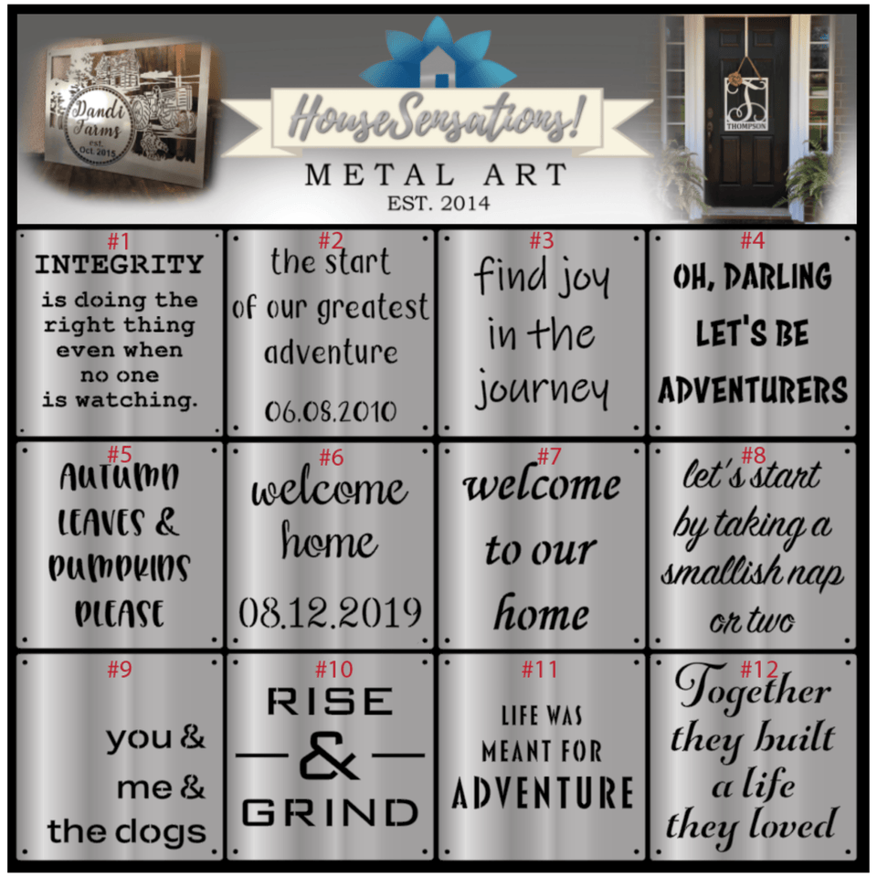 Custom Metal Quote Sign and Sayings, Inspirational Personalized Sign,