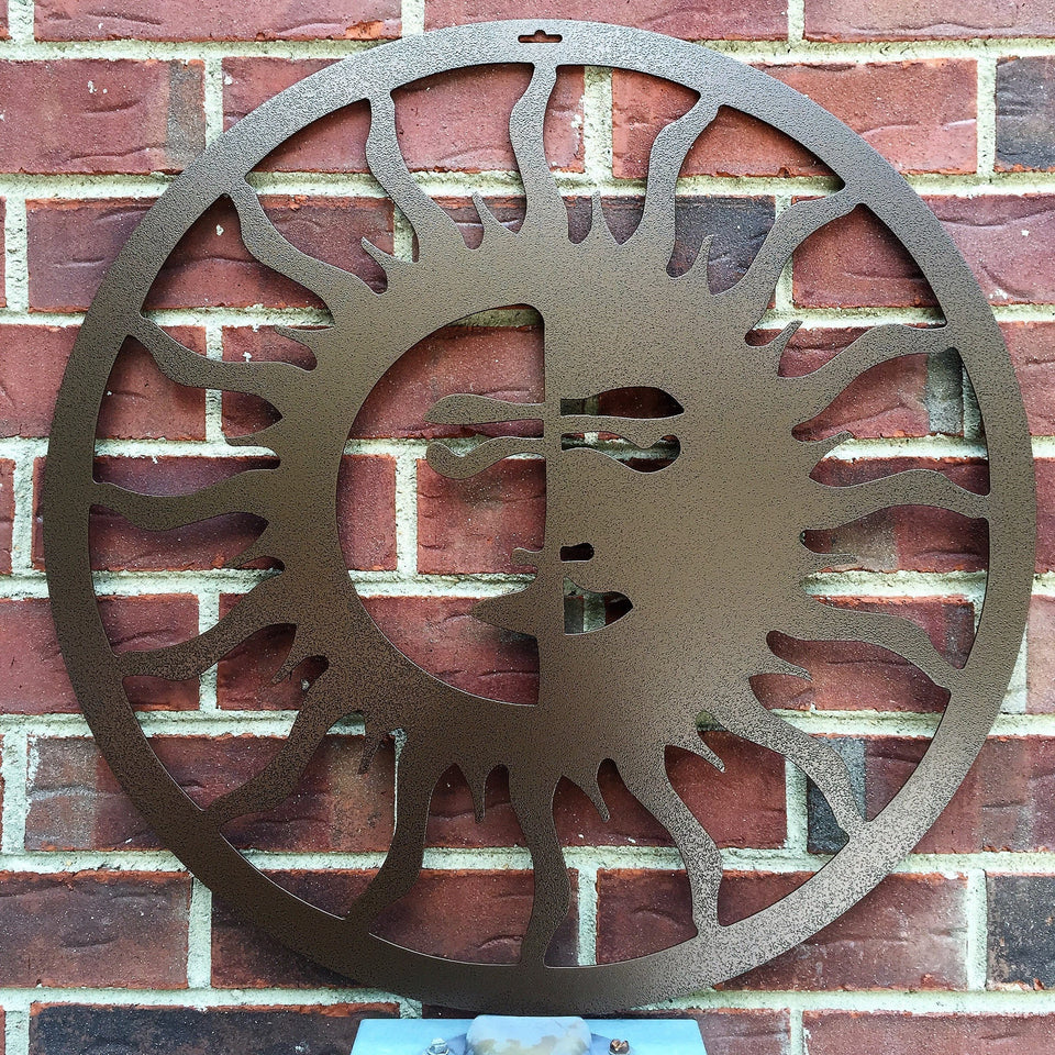 THE FOURTH DAY: Sun and Moon Outdoor Metal Wall Art
