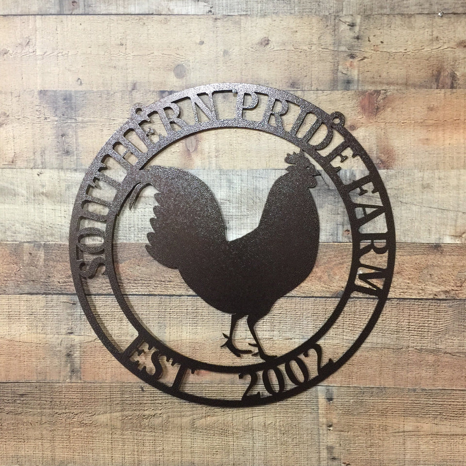 Rooster Farmhouse Sign/ Ranch Sign