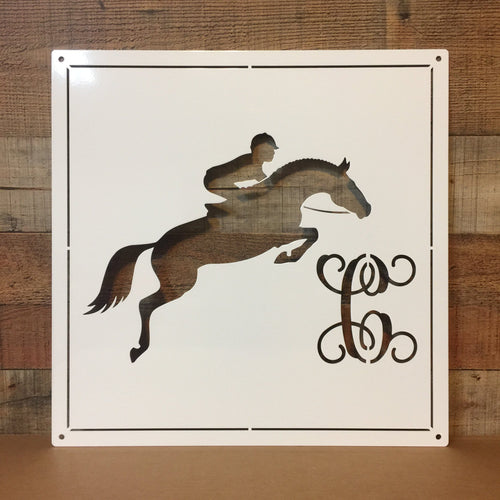 Monogrammed Horse Tack Room or Stall Sign