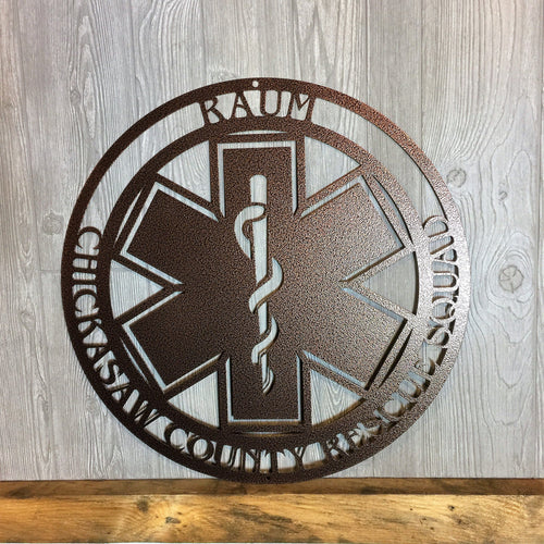 EMS # 1- Personalized EMS Sign with the Star of Life