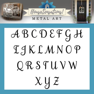 Metal Family Name Sign | Established Front Door Wreath | Personalized Monogram Front Door Hanger