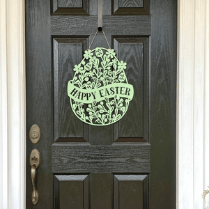 Floral Happy Easter Egg Door Hanger