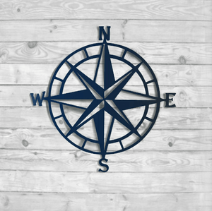 Nautical Compass Rose Metal Wall Art