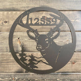 Personalized Deer Antler Address Sign