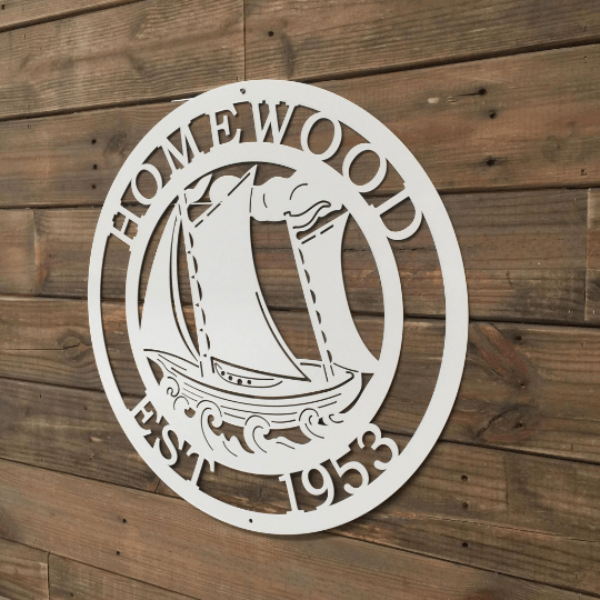 Personalized Sail Boat Metal Sign