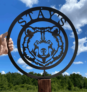 Metal Personalized Bear Ranch Farm Sign