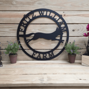 Fox Metal Custom Ranch Sign
