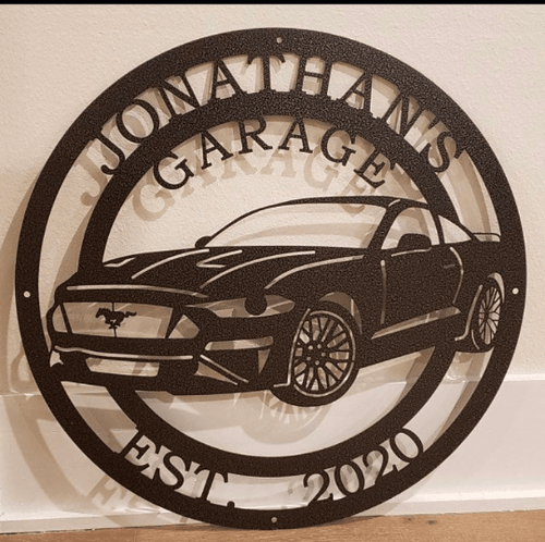 Personalized 2000's Ford Mustang Sign