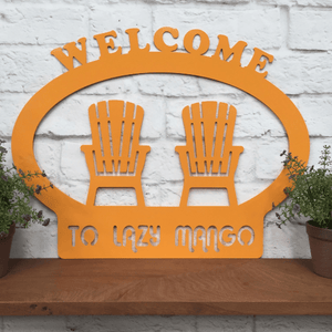 SUMMER WELCOME SIGN : Metal Welcome Sign for Summer