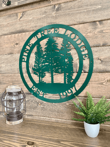 Personalized PINE Tree Custom Metal Sign| Metal Wall Art