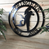 Mermaid & Fisherman Sign | Personalized Beach House Sign