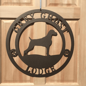 Personalized Weimaraner Dog Sign